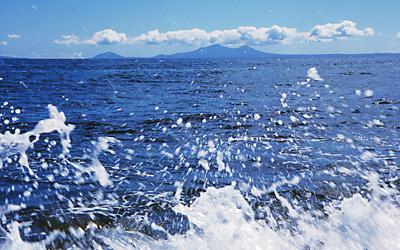 真っ青な九州の海で散骨